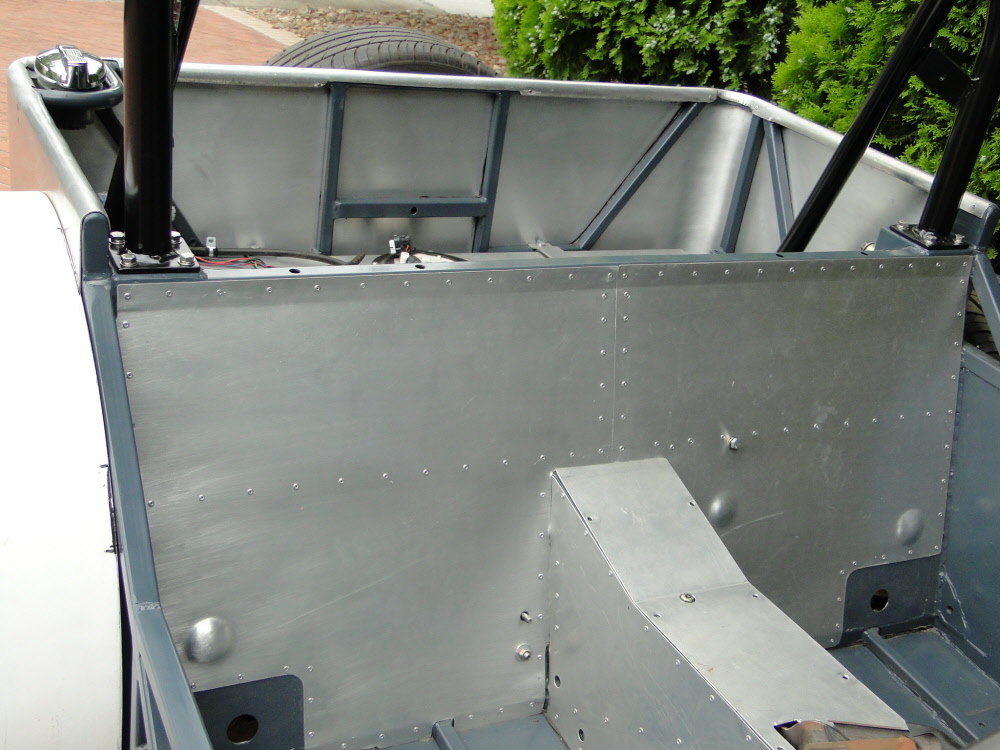 Aluminium panels fixed in place