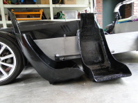 The finished fibreglass seat shells