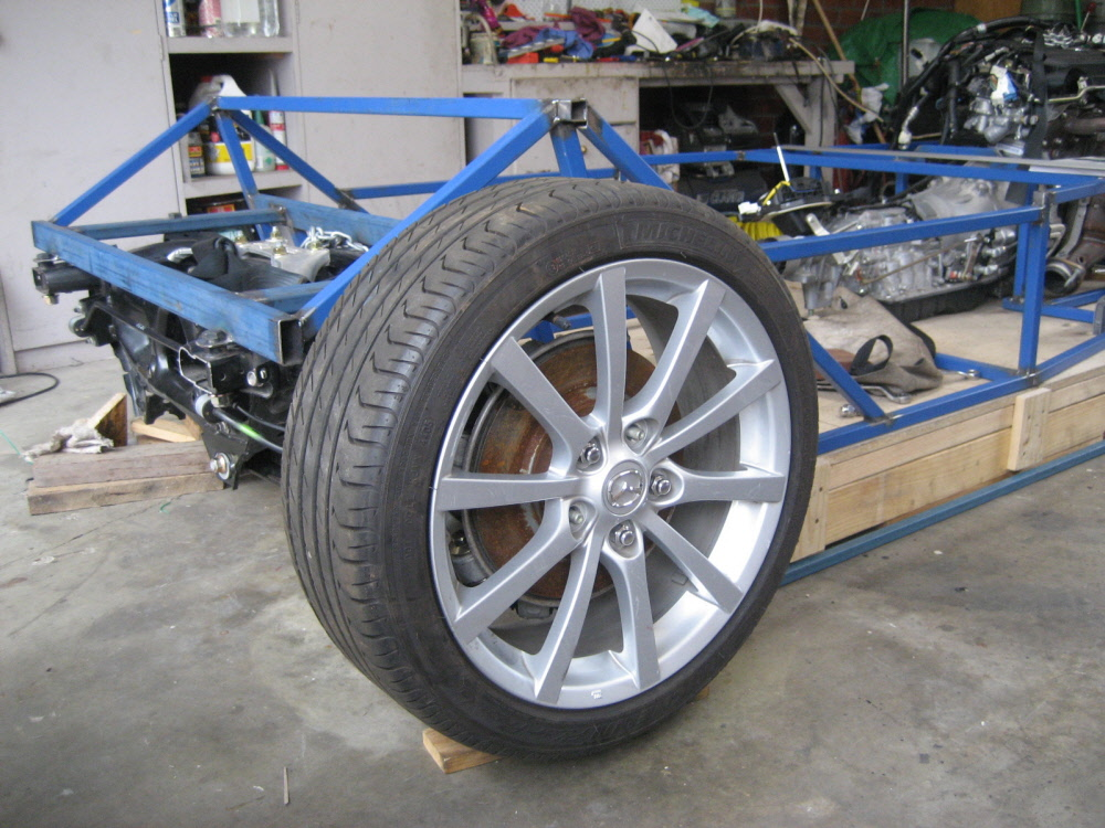 Rear wheels in place